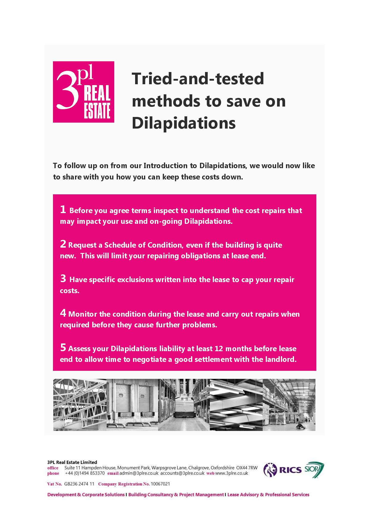 Tried & Tested Ways to Minimise Dilapidations -page-001